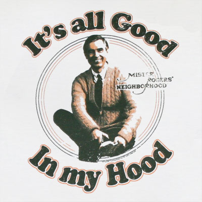 Mister Rogers It's All Good In My Hood Off-White Graphic Tee Shirt