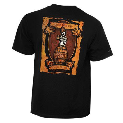 Rogue Ales Men's Black Dead Guy Oregon Brewery T-Shirt