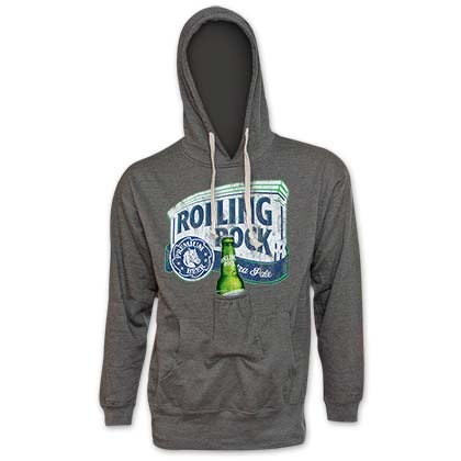 Rolling Rock Men's Grey Beer Pouch Hoodie