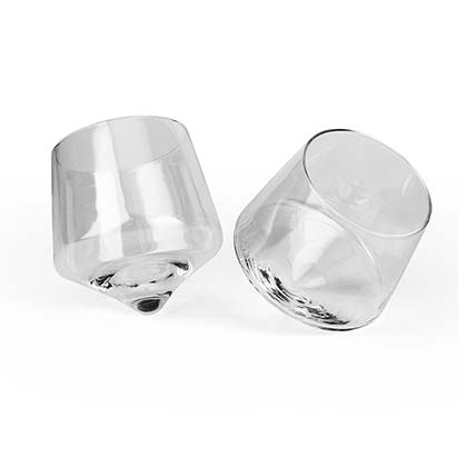 Rolling Whiskey Glass Two Pack