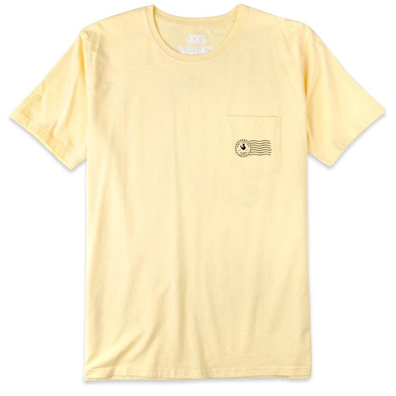 Rowdy Gentleman Men's Yellow JFK Stamp T-Shirt