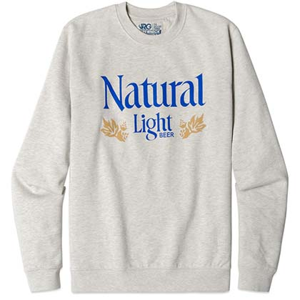 Natural Light Rowdy Gentleman Men's Grey Crewneck Sweatshirt