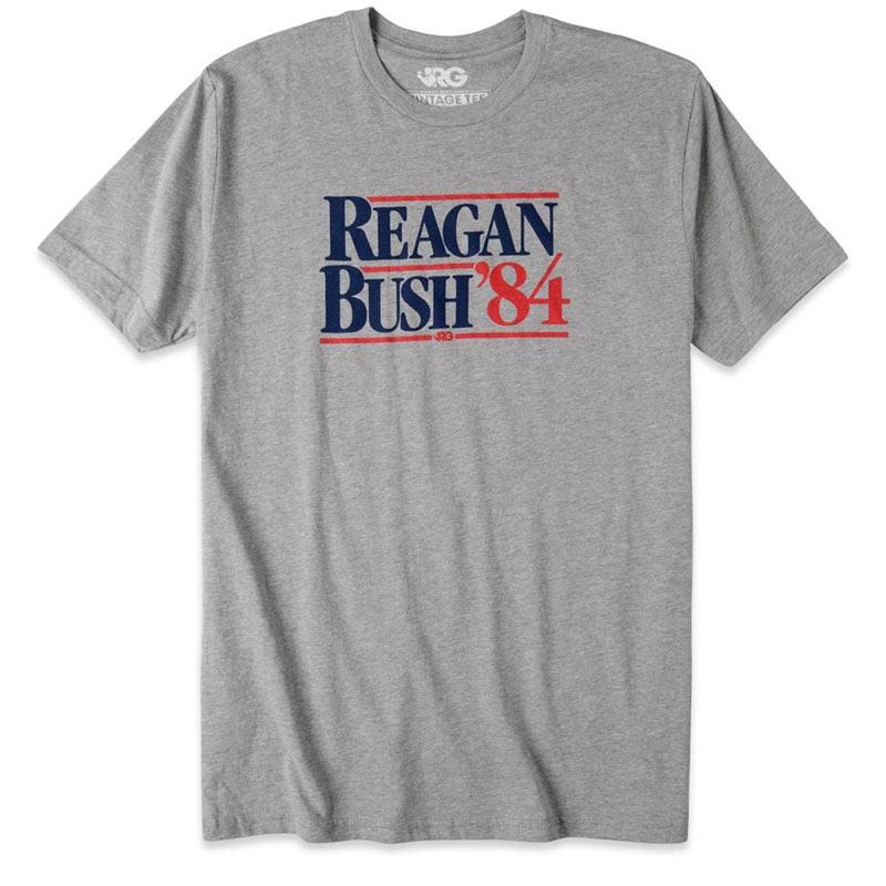 Rowdy Gentleman Men's Grey Reagan Bush '84 T-Shirt