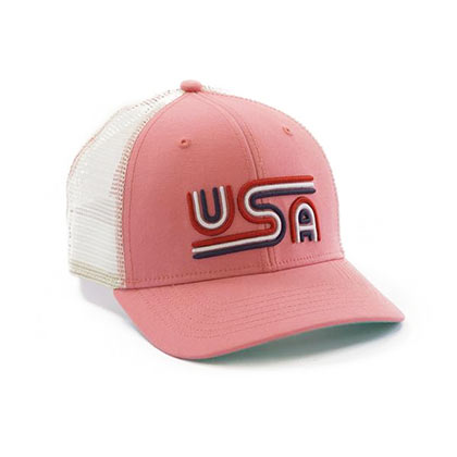 Rowdy Gentleman Patriotic USA Mesh Trucker Hat