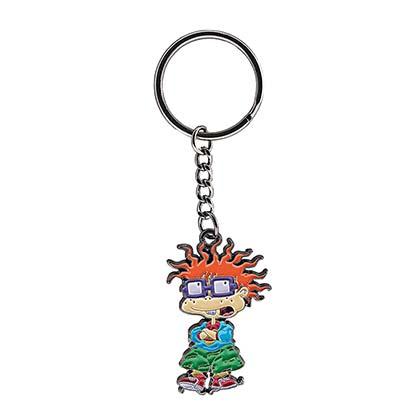Rugrats Nickelodeon Chuckie Metal Keychain