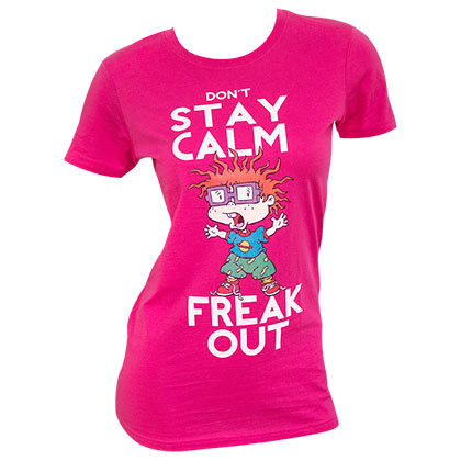 Rugrats Women's Pink Chuckie Freak Out T-Shirt