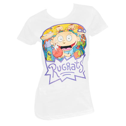 Rugrats Women's White Logo T-Shirt