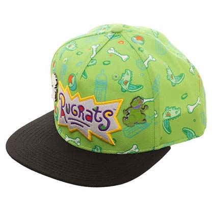 Rugrats Green Embroidered Snapback Hat