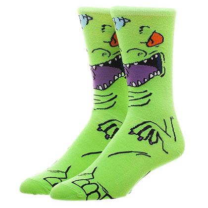 Rugrats Reptar Green Men's Socks