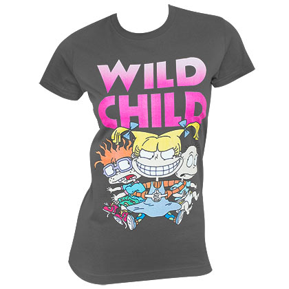 Rugrats Women's Gray Angelica Wild Child T-Shirt