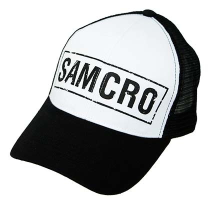 Sons Of Anarchy Men's Black SAMCRO Mesh Trucker Hat