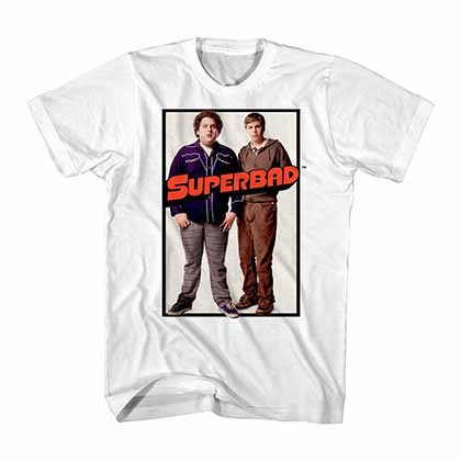 Superbad Duo Poster White T-Shirt