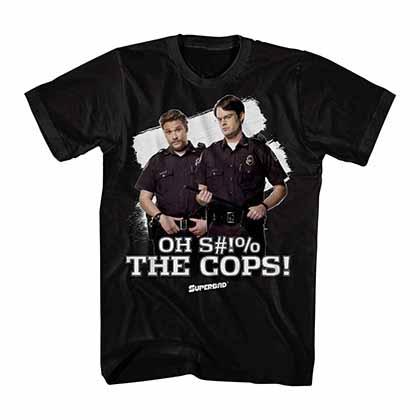 Superbad The Cops Black T-Shirt