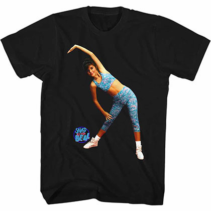 Saved By The Bell Aerobics Black Tee Shirt