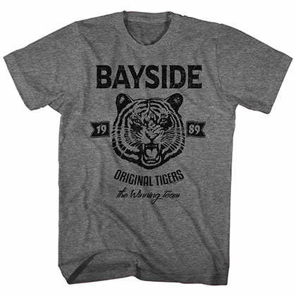 Saved By The Bell Original Tigers Gray Tee Shirt