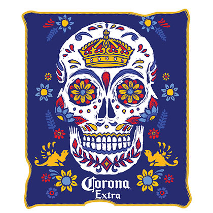 Corona Extra 45 X 60 Sugar Skull Fleece Blanket