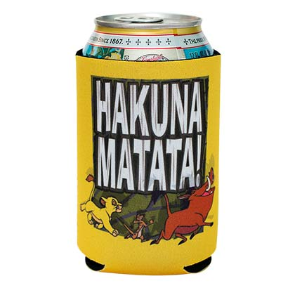 Disney Lion King Hakuna Matata Beer Can Koozie