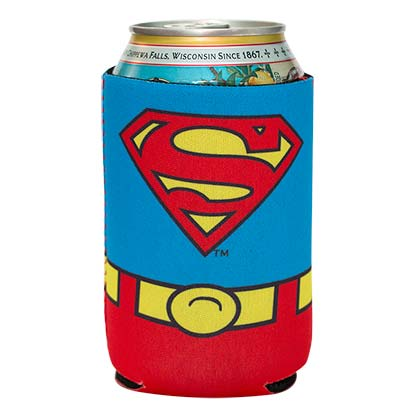 Superman Costume Beer Can Cooler