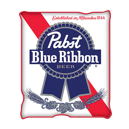 Pabst Blue Ribbon PBR 45 X 60 Fleece Blanket