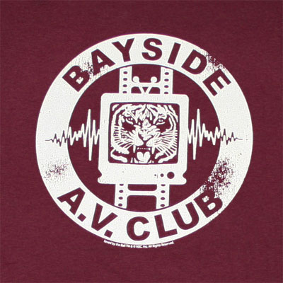 Saved By The Bell Bayside AV Club Burgundy Graphic TShirt