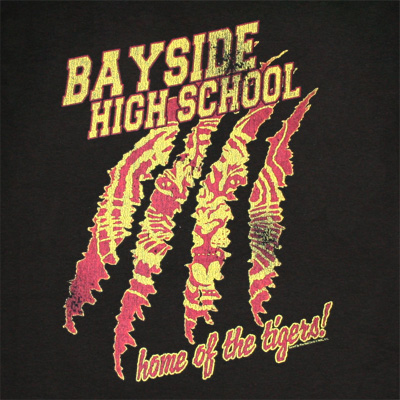 Saved By The Bell Bayside Home Of The Tigers Black Graphic TShirt