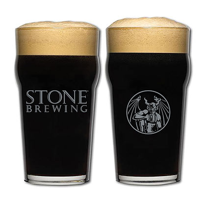 Stone Brewing Co. Authentic Imperial Pint Glass