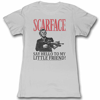 Scarface Say Hello Gray Juniors Tee Shirt