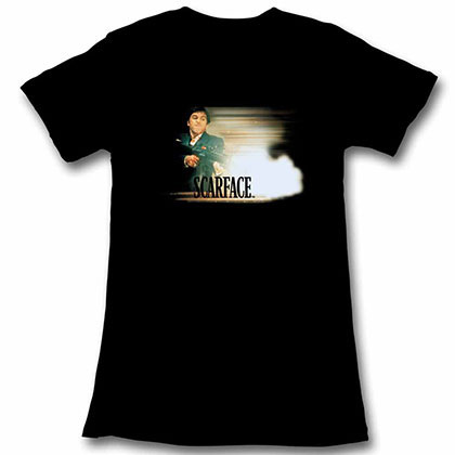 Scarface Glowy Dude Black Juniors Tee Shirt