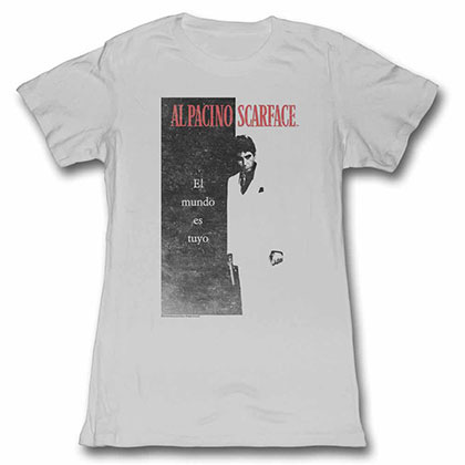 Scarface Elmundo Gray Juniors Tee Shirt