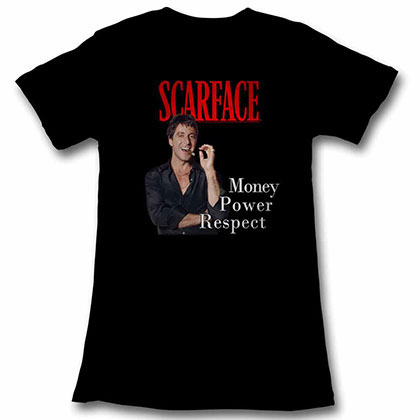 Scarface Mpr Black Juniors Tee Shirt