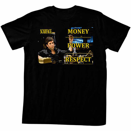 Scarface Monpowres Black Tee Shirt