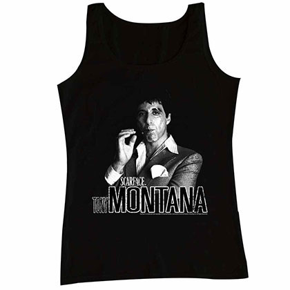 Scarface Tony Tank Black Tee Shirt