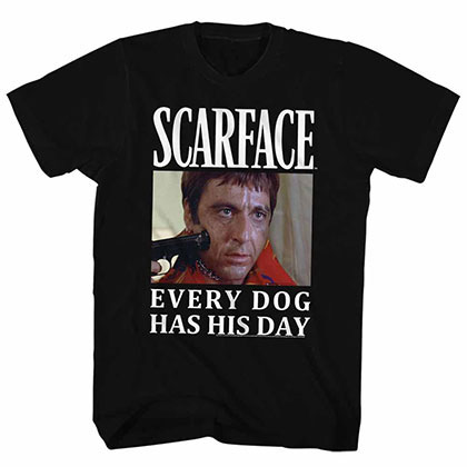 Scarface Doge Black Tee Shirt