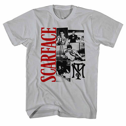 Scarface Montage Gray Tee Shirt
