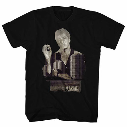 Scarface Double Expose Black Tee Shirt