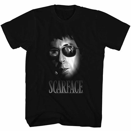 Scarface Aviators Black Tee Shirt