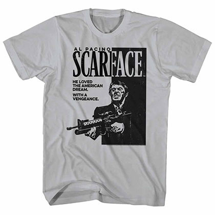 Scarface Scarface Gray Tee Shirt