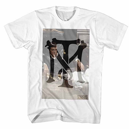 Scarface Tonymontana White Tee Shirt