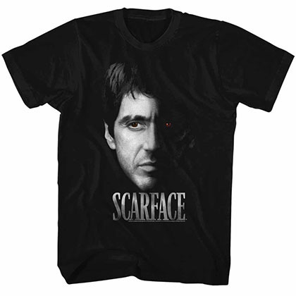 Scarface Red Eye Black Tee Shirt
