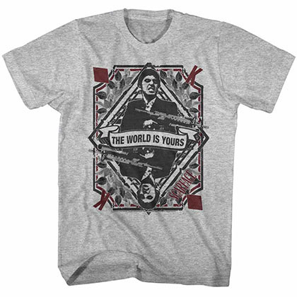 Scarface King Of Diamonds Gray TShirt