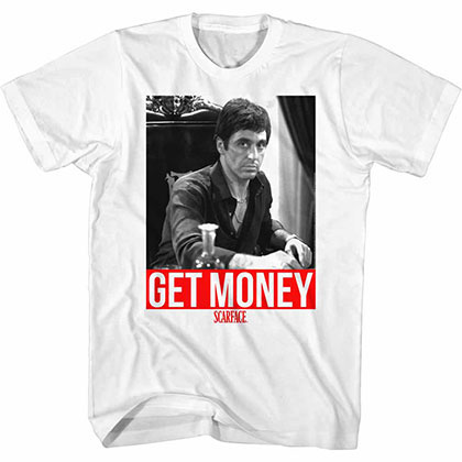 Scarface Get It White Tee Shirt