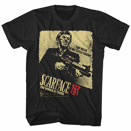 Scarface Scarface Action Black Tee Shirt