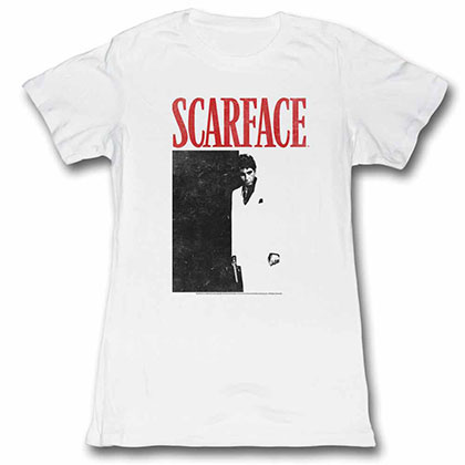 Scarface Tony Close-Up Black Tee Shirt