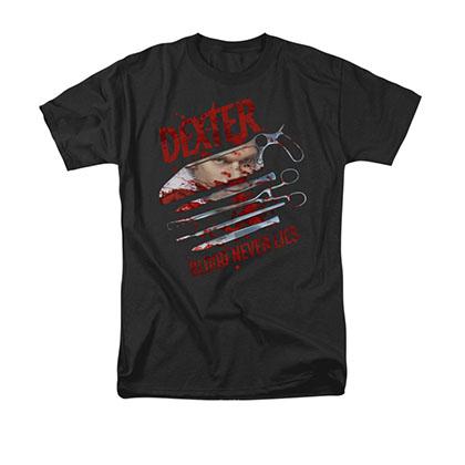 Dexter Blood Never Lies Black T-Shirt