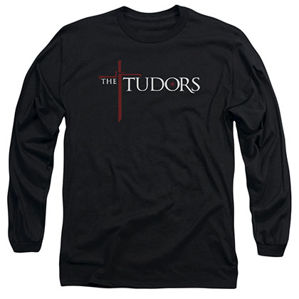 Tudors Logo Black Long Sleeve T-Shirt