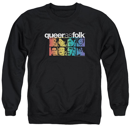 Queer As Folk Cast Black Crew Neck Sweatshirt