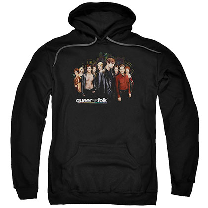 Queer As Folk Title Black Pullover Hoodie