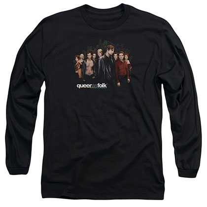 Queer As Folk Title Black Long Sleeve T-Shirt