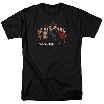 Queer As Folk Title Black T-Shirt