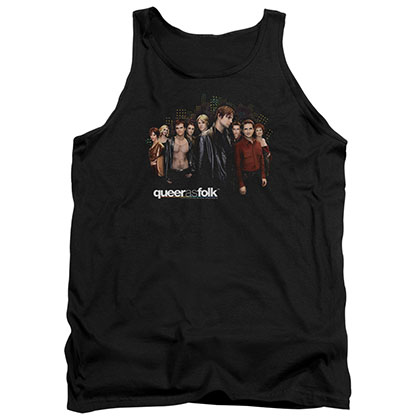 Queer As Folk Title Black Tank Top